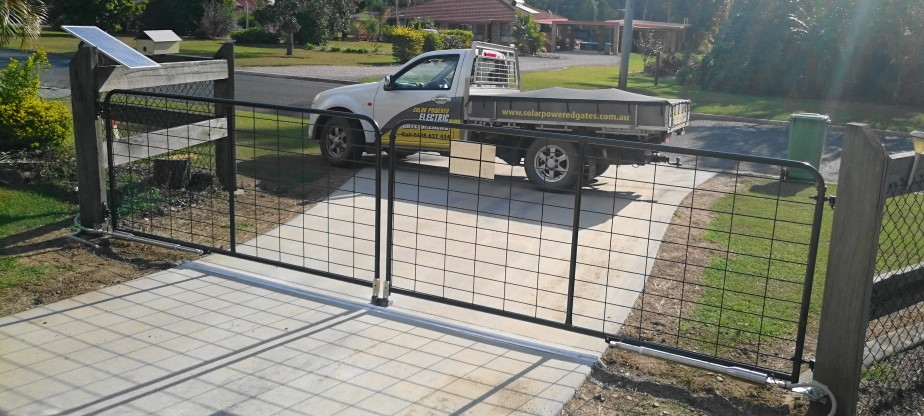Gate And Gate Opener Package Deal Solar Powered Electric