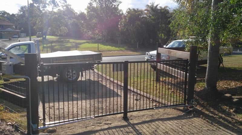 Solar Electric Gate Opener Double Swing Heavy Duty