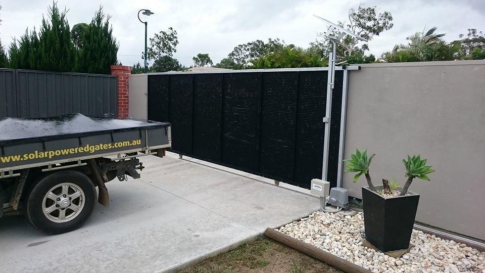 Electric Gate Kits >> Solar Sliding Electric Gate Opener Kit Installation Solar Powered