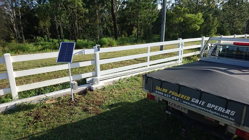 Solar Sliding Gate Opener Kit Single Panel Kit W Sliding